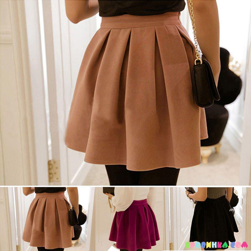 юбка в складку с чем носить с фото